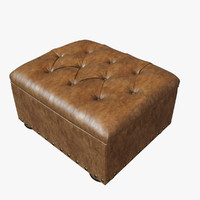 restoration hardware ottoman churchill 3d max