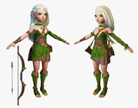 cartoon elf ranger 3d max