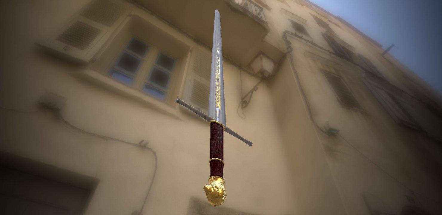 sword rhindon 3d c4d