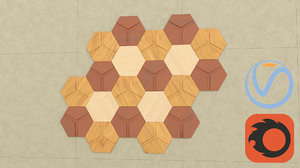 3d model of decorative wood