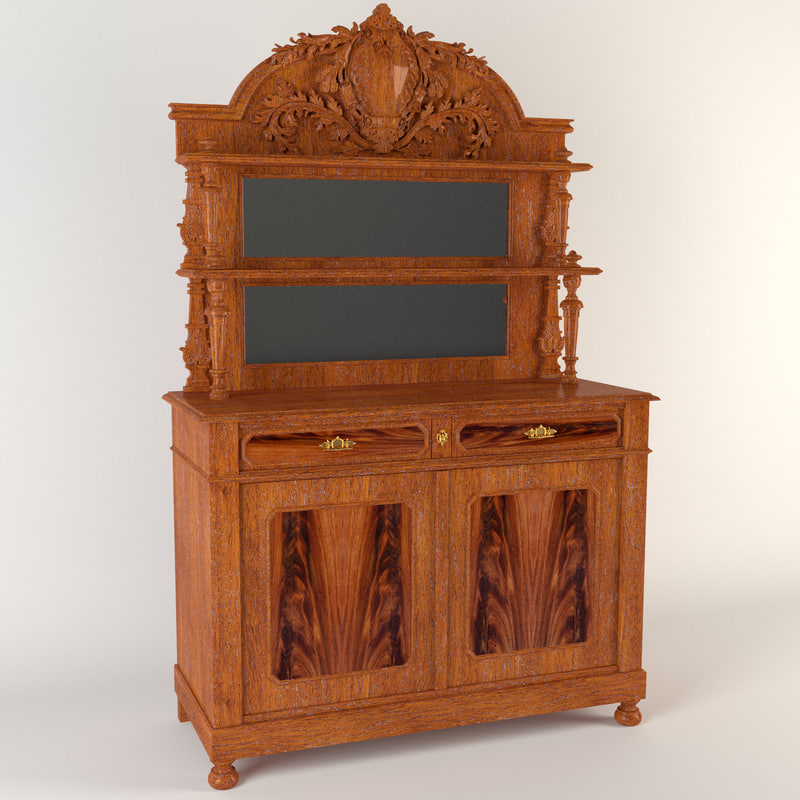 antique cupboard 3d max