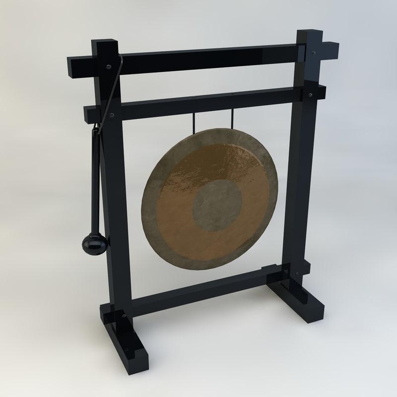 3d model gong