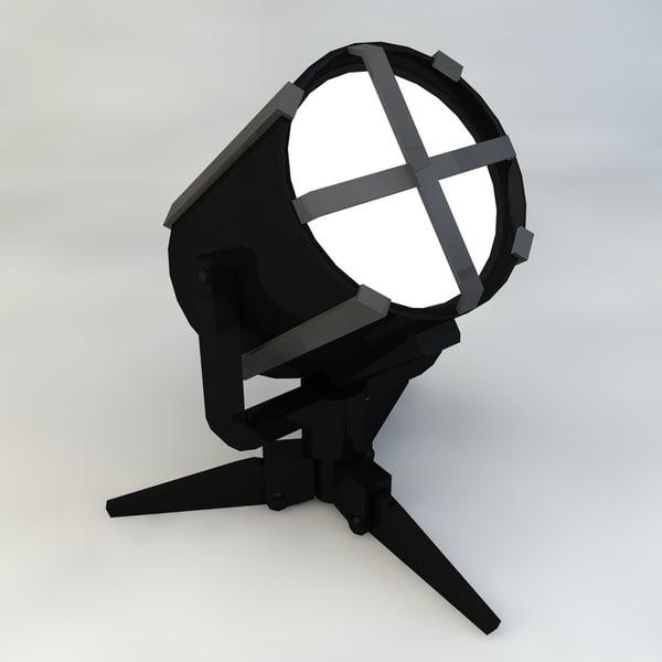 searchlight floodlight 3d max