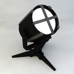 searchlight floodlight 3d max