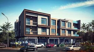 residential retail 3d model