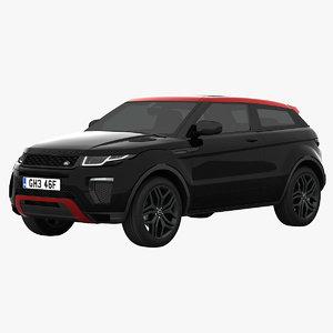 3d rover range evoque ember model