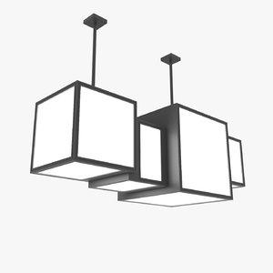 3d model modern chandelier