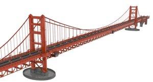 3d obj golden gate bridge