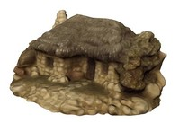 3d realistic medieval stone cottage model