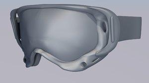 3d goggle model