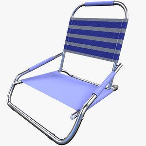 beach chair 3d c4d
