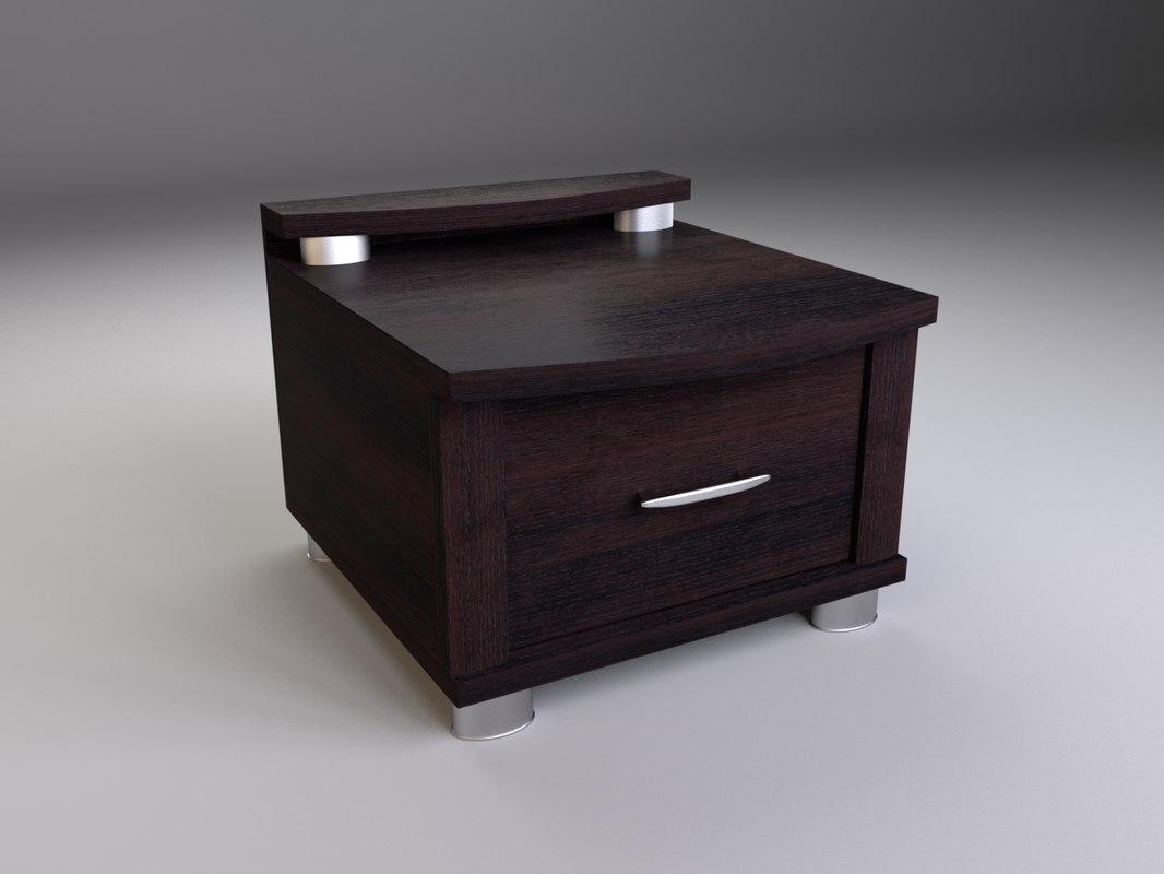 bedside table 3d model