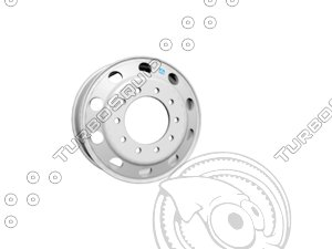 3d alcoa wheels semi model