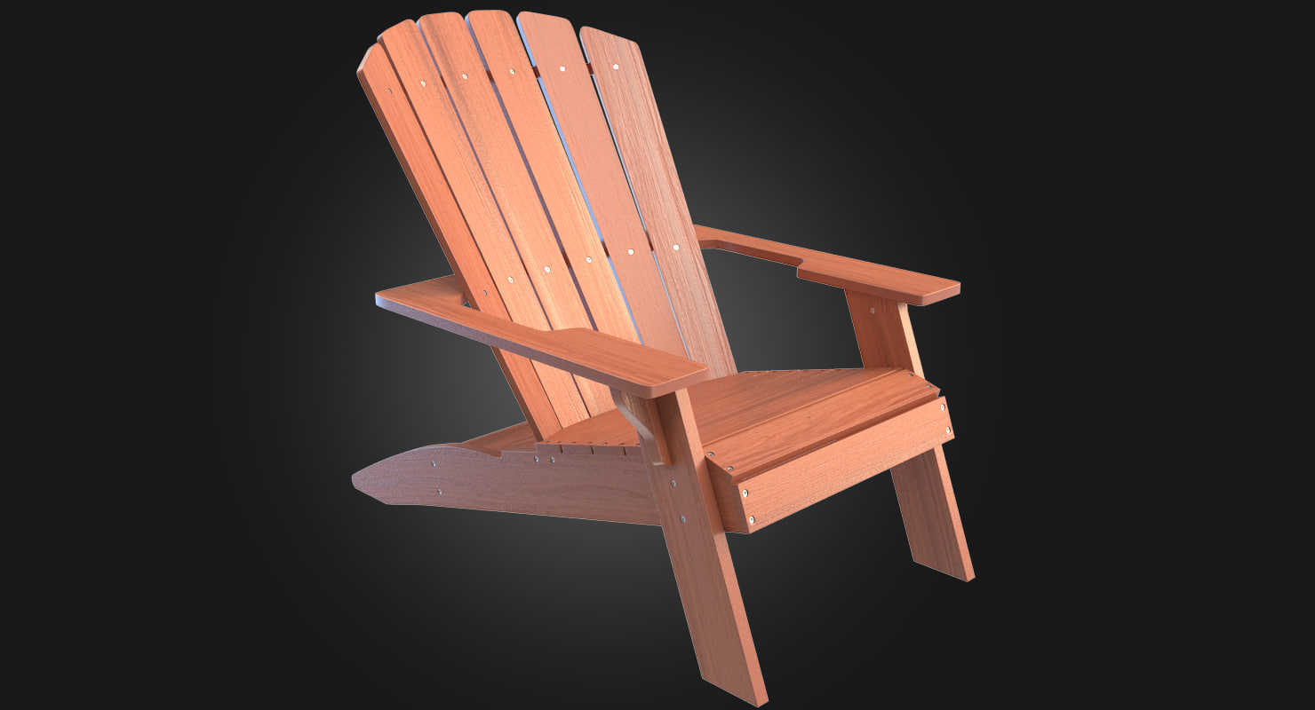 lifetime adirondack chair 3d max