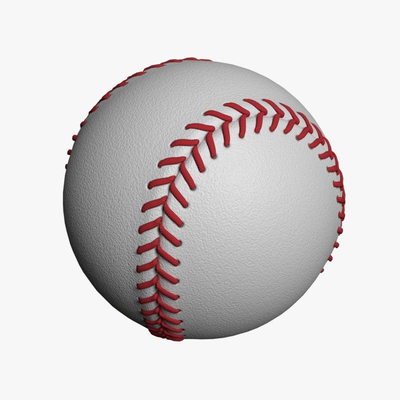 baseball ball obj