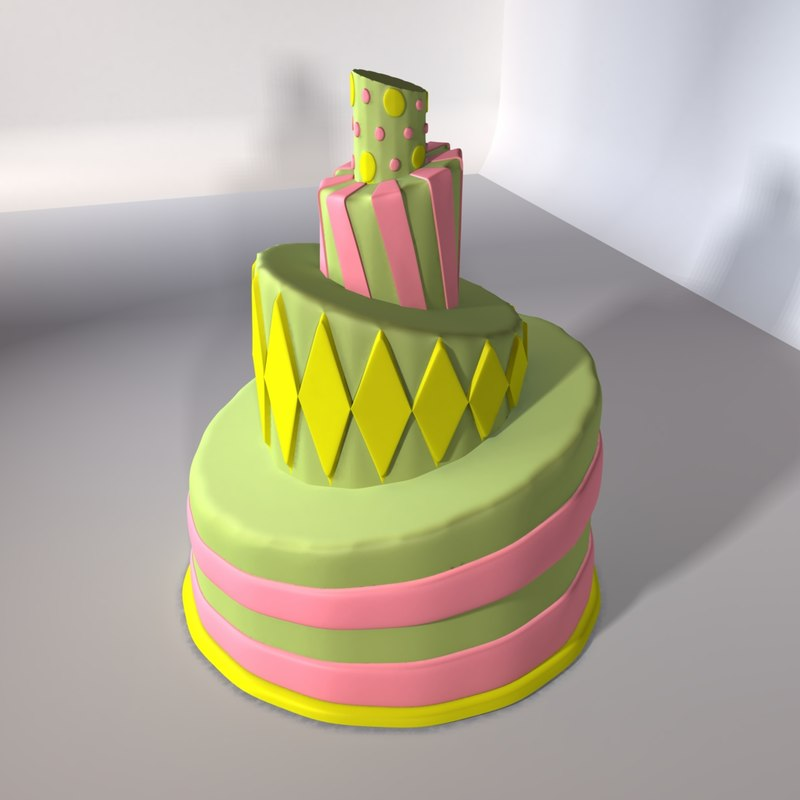 whimsically topsy turvy cakes 3ds