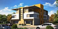 3d twin house model