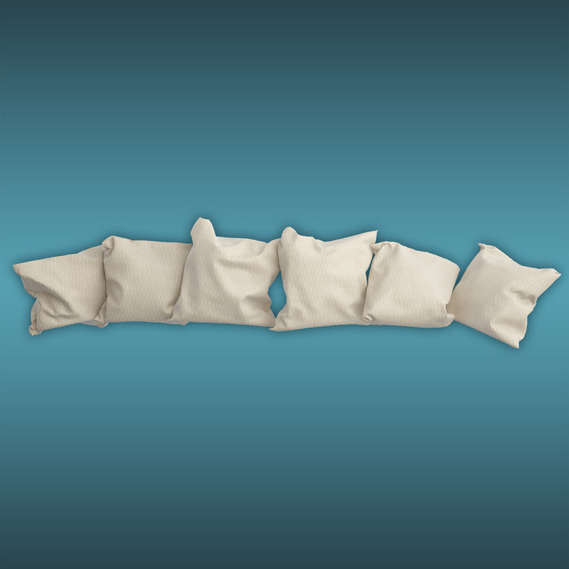 cushion almohadones 3d model