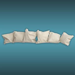 cushion almohadones 3d model