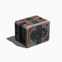3d futuristic sci container model