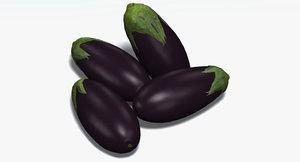 3d aubergine eggplant ratatouille