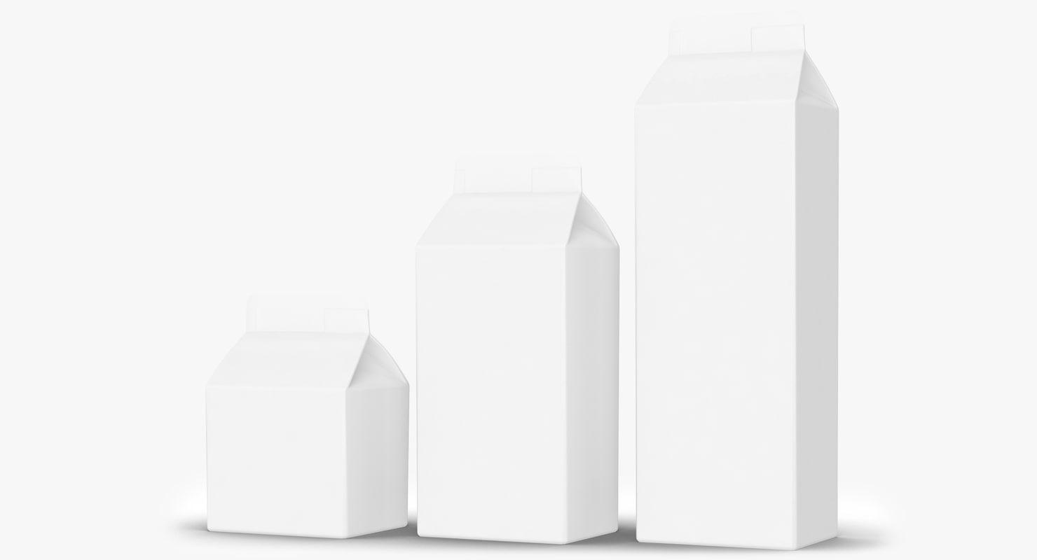 3d model packaging milk