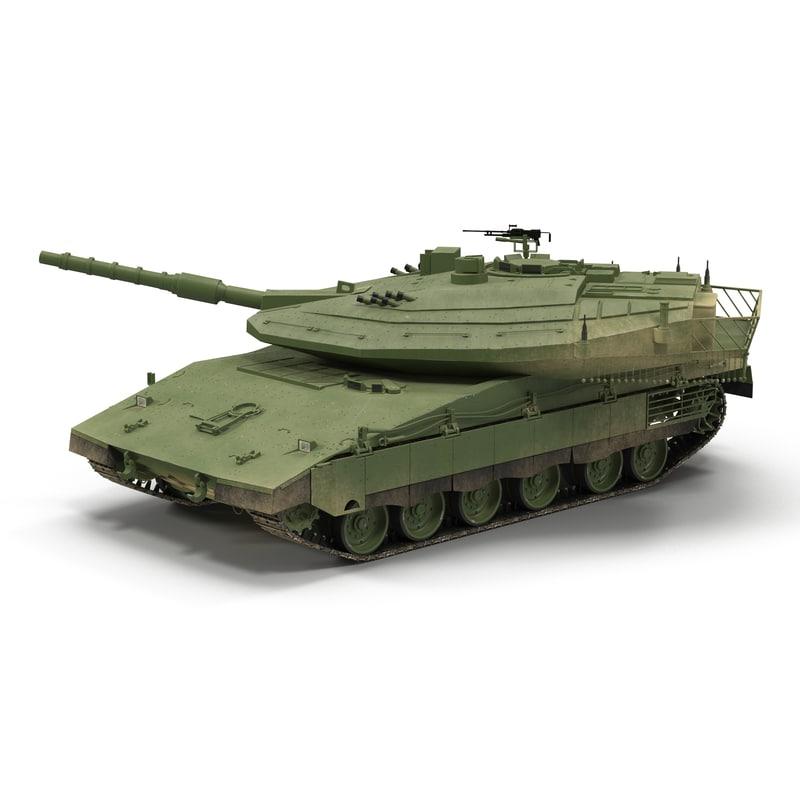 3d model merkava mk iv rigged
