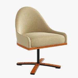 3d max chic sedia girevole -