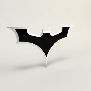 batman batarang bat 3d model
