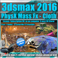 3ds max 2016 PhysX Mass Fx Cloth 3 mesi Subscription 1 Computer