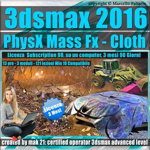 3ds max 2016 PhysX Mass Fx Cloth 3 mesi Subscription 1 Computer
