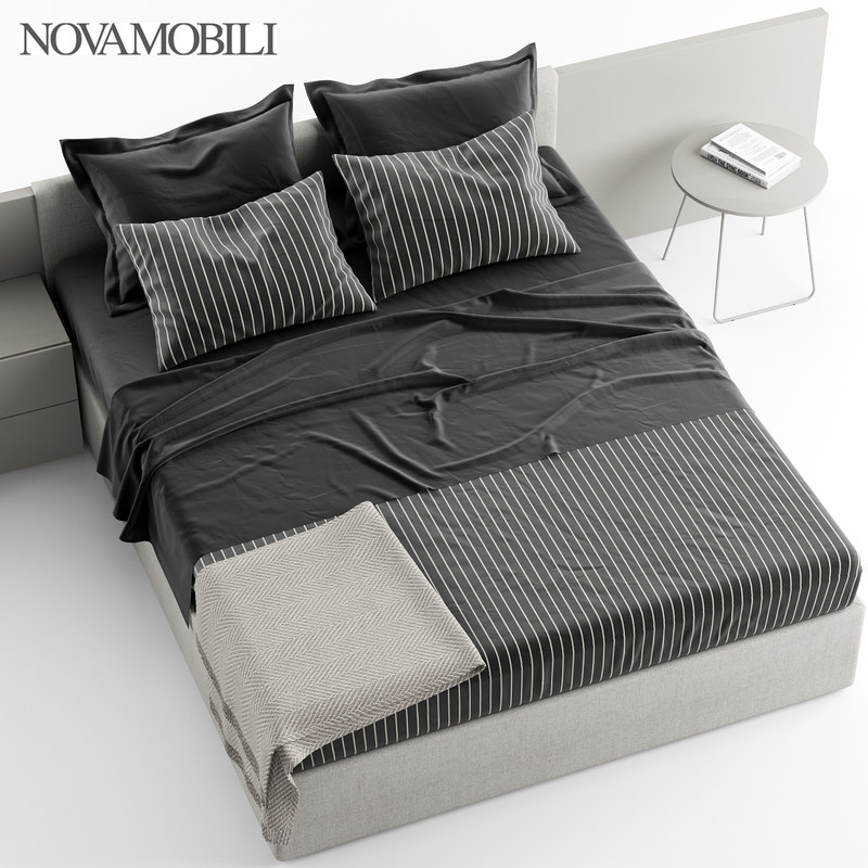 novamobili line bed 3d model