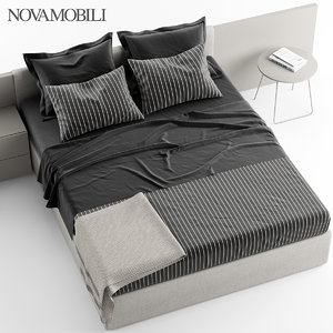 novamobili line bed 3d model