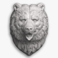 3d bear head model