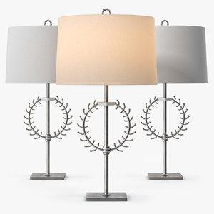 windsor arteriors crete lamp 3ds