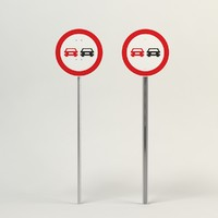 uk traffic sign used 3d 3ds