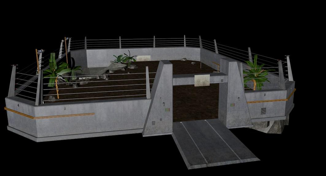 jurassic park enclosure 3d fbx