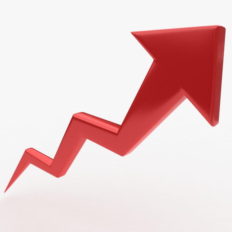 3d trend arrow