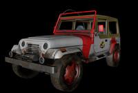 wrangler jurassic park 3d model