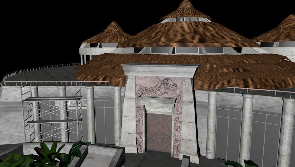 3d fbx visitor center jurassic park