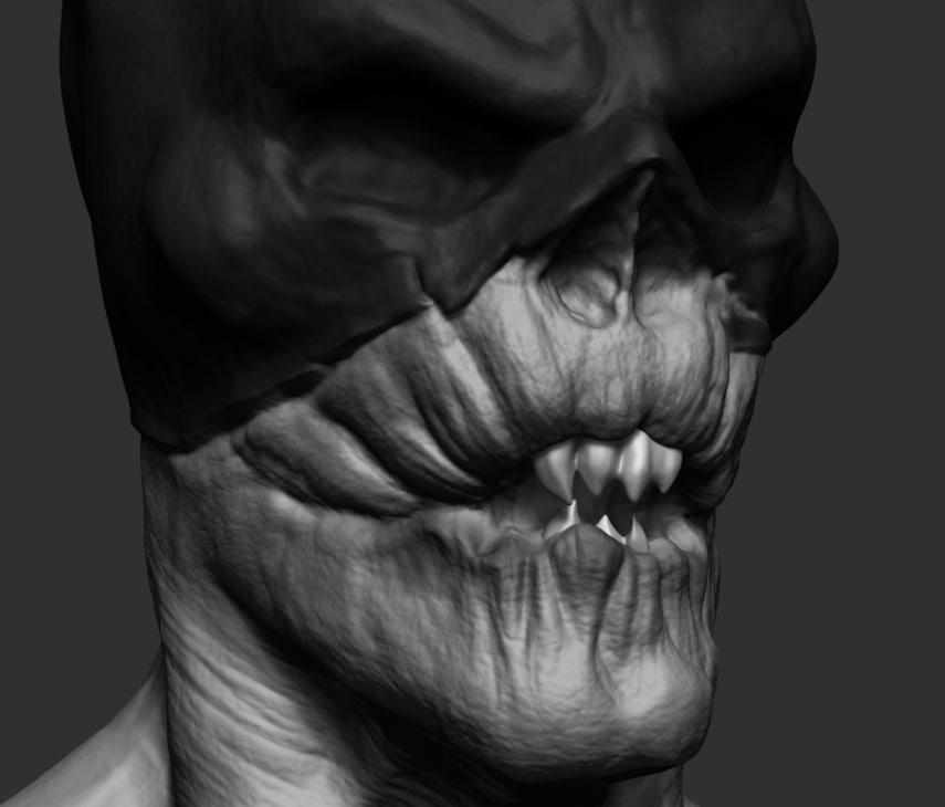creepy batman ztl 3d obj