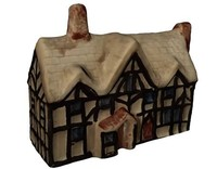 3d medieval house shelf ornament model