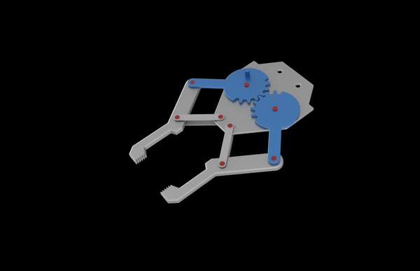 3d robotic clamp model
