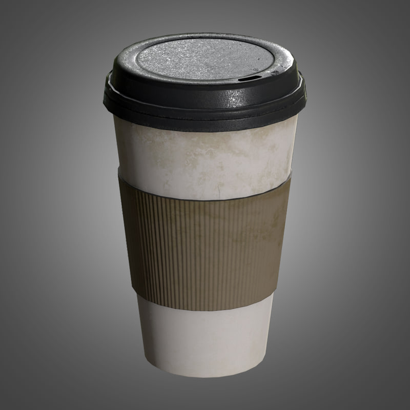 commercial coffee cups - obj
