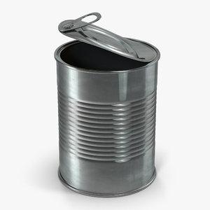 3d model open tin 2