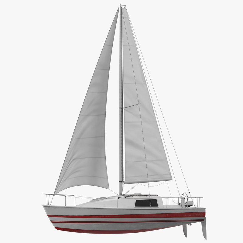 small sailing yacht 3d model