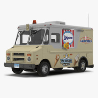 Ice Cream Van 3D Model
