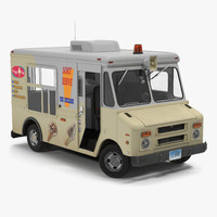 ice cream van rigged 3d max