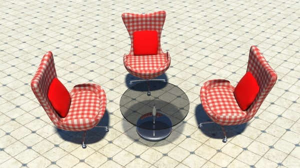set chair tea 3d ma