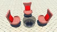 set chair tea 3d ma